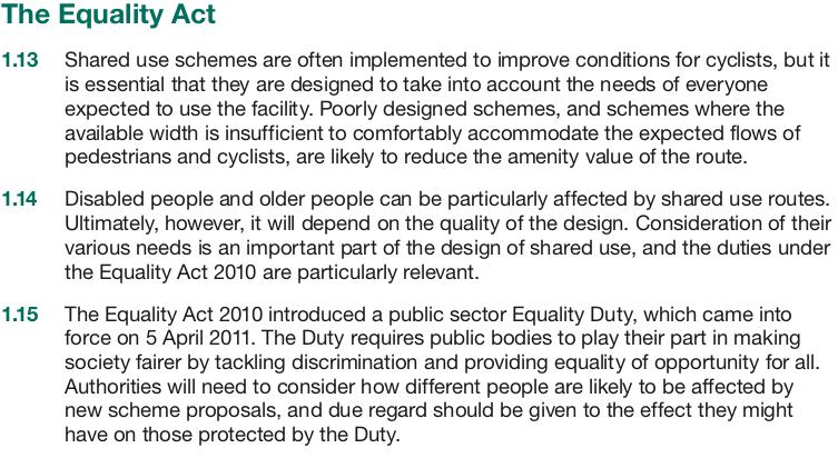 Equality Concerns of DfT